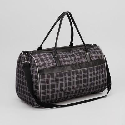 f62ba3e71d77 Сумка дорожная, отдел на молнии, наружный карман, длинный ремень, цвет  чёрный
