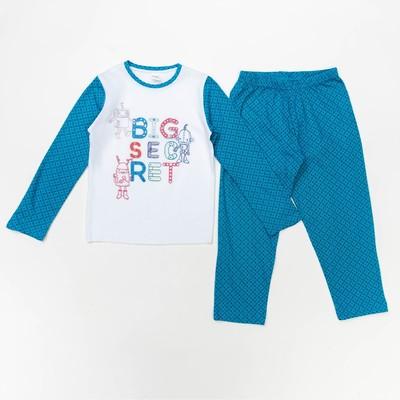 Пижама для мальчика, рост 98-104 см (28), цвет голубой 10362
