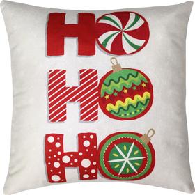 Подушка декоративная Hо-hо-ho сублимация 35х35 см  велюр, пэ 100% Ош