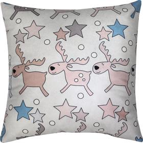 Подушка декоративная Олени и звезды сублимация 35х35 см  велюр, пэ 100% Ош