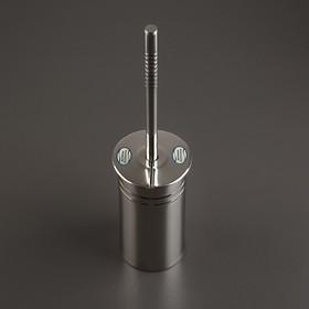 Ёрш для унитаза с подставкой, 9×9×39 см, цвет хром