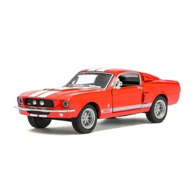 Машина металлическая Shelby GT-500, 1:44, открываются двери, инерция, цвет красный