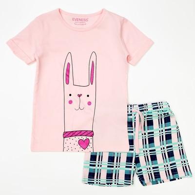 Пижама для девочки, рост 140-146 см (40), цвет розовый