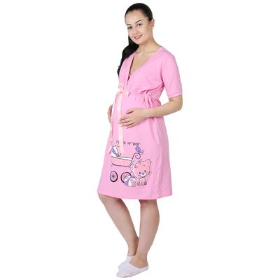 Сорочка женская Мой малыш цвет розовый, р-р 44