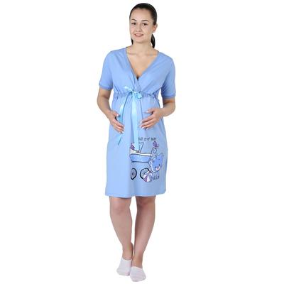 Сорочка женская Мой малыш цвет голубой, р-р 44
