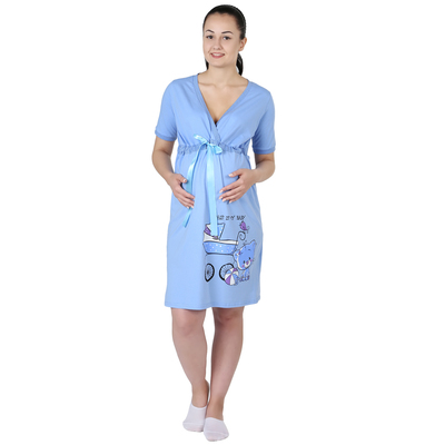 Сорочка женская Мой малыш цвет голубой, р-р 56