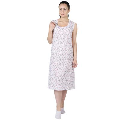 Сорочка женская Маркиза принт МИКС цвет белый, р-р 54