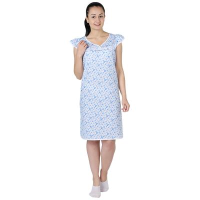 Сорочка женская Крыло 2 принт МИКС цвет белый, р-р 52