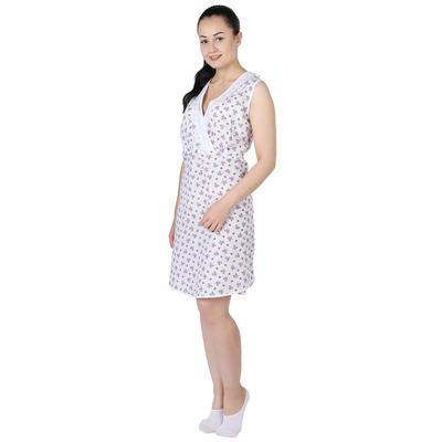 Сорочка женская Кормление принт МИКС цвет белый, р-р 46
