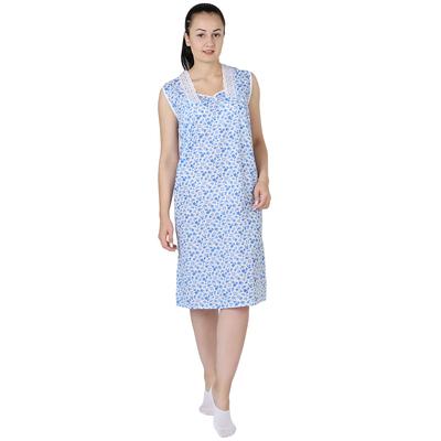 Сорочка женская Юлия принт МИКС цвет белый, р-р 56