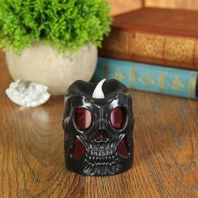 """Led candle """"Skull"""", black"""