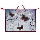 Папка А3 с ручками пластик/текстиль, молния сверху, 420х343х50 мм «Время бабочек»