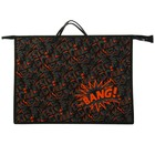 Папка А3 с ручками пластик/текстиль, молния сверху, 420х343х50 мм «Яркий микс оранжевый»
