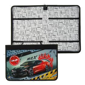 Папка для труда, А4, с ручкой, молния вокруг, текстиль/ламинированный картон, 340 х 235 мм, «Оникс», ПТ-Р5, AutoMax