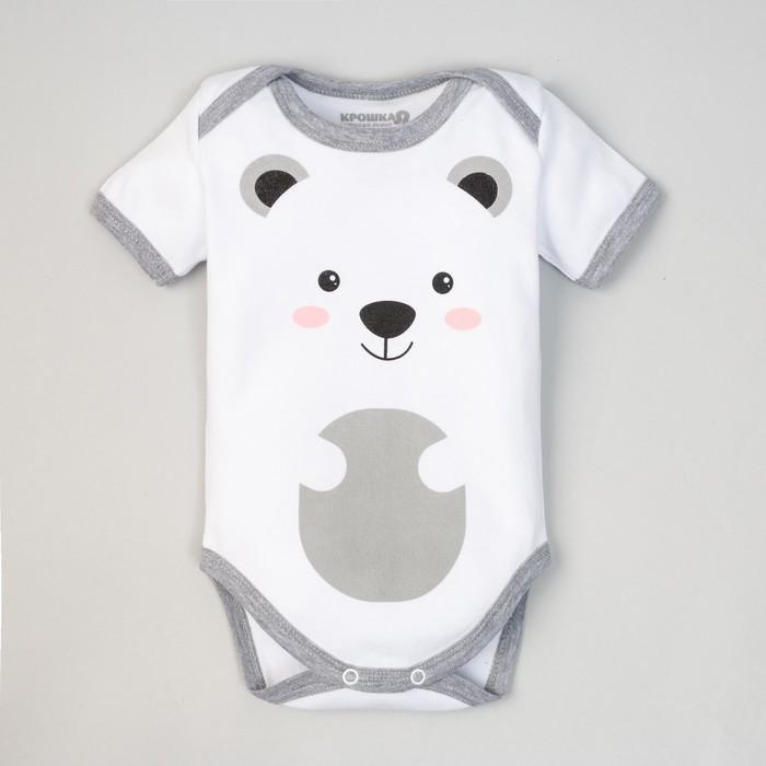 """Боди детское """"Медвежонок"""", рост 68-74 см, 6-9 мес (24 р-р), 100% хл, интерлок"""