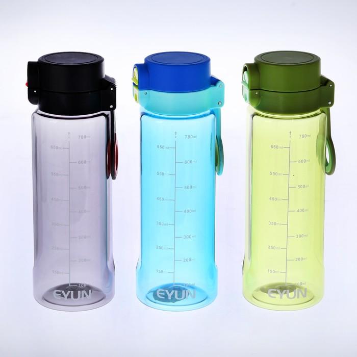Бутылка 780 мл, со шкалой, на пластиковом кольце, микс, 7.5х23 см