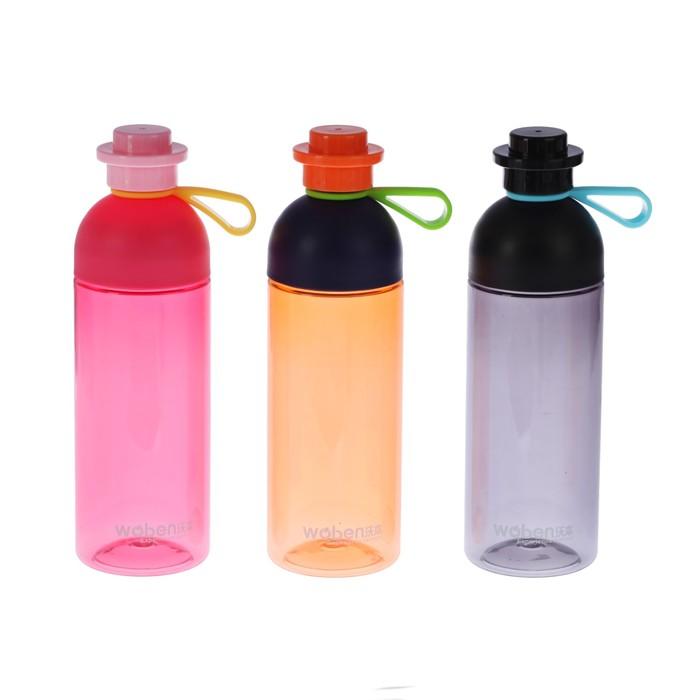 "Бутылка для воды ""Крест"", 660 мл, крышка на резинке, микс, 8х7х23 см"
