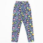 Брюки (лосины) для девочки, рост 128 см, цвет джинса, принт звёзды