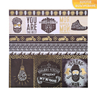 """Paper for scrapbooking with the foiling of the """"best men"""", 30.5 × 30.5 cm, 250 g/m"""