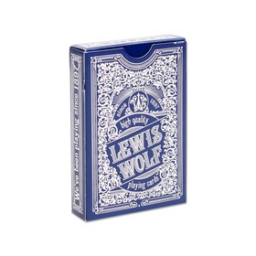 54 Lewis & Wolf poker playing cards in the deck, blue shirt, jumbo index