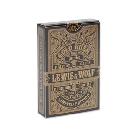 54 Lewis & Wolf poker playing cards in the deck, gold shirt, jumbo index