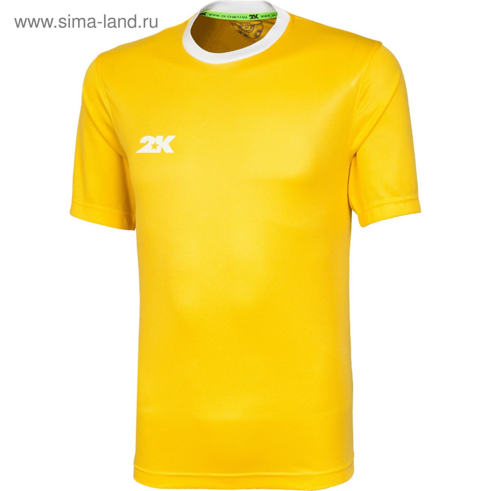 900538f6 Футболка игровая 2K Sport Classic yellow/white, 146 (3748364 ...