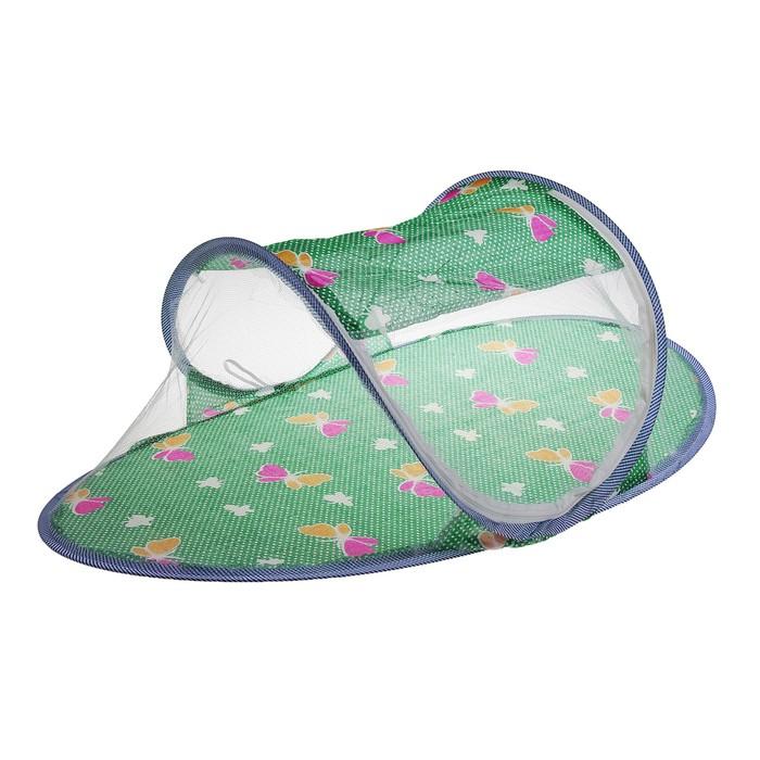 Манеж-палатка: москитная сетка на молнии, цвета МИКС
