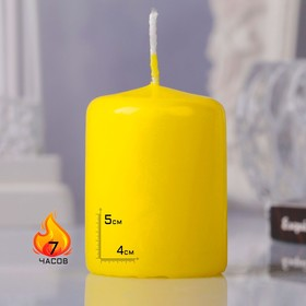 Hemp candle, 4x5cm, yellow