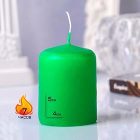 Hemp candle, 4x5cm, green