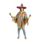 """Карнавальный костюм """"Мексиканское пончо"""", цветные полоски"""