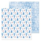 Бумага для скрапбукинга «Снежные деревья», 30,5 × 30,5