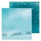 Бумага для скрапбукинга «Морозный вечер», 30,5 × 30,5