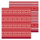 Бумага для скрапбукинга «Новогодний орнамент», 30,5 × 30,5 см, 180 г/м