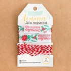Лента атласная декоративная «Счастливого Нового Года», 2 см × 2 м