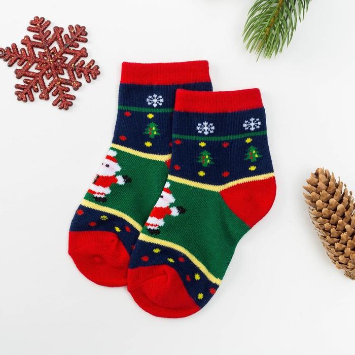 Носки детские Collorista «Дед Мороз», размер 30-34 (19-21 см), (6-8 лет) - фото 489635