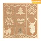Бумага для скрапбукинга крафтовая с фольгированием «Новогодние узоры», 20 × 20 см, 300 г/м