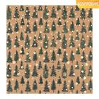 Бумага для скрапбукинга крафтовая с фольгированием «Сказочный лес», 20 × 20 см, 300 г/м
