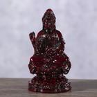 """Нэцке полистоун """"Медитация Лакшми"""" тёмно-красный 10,8х6х6 см"""