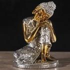 "Нэцке полистоун бронза ""Задумчивый будда"" 11,8х7,7х6,2 см"