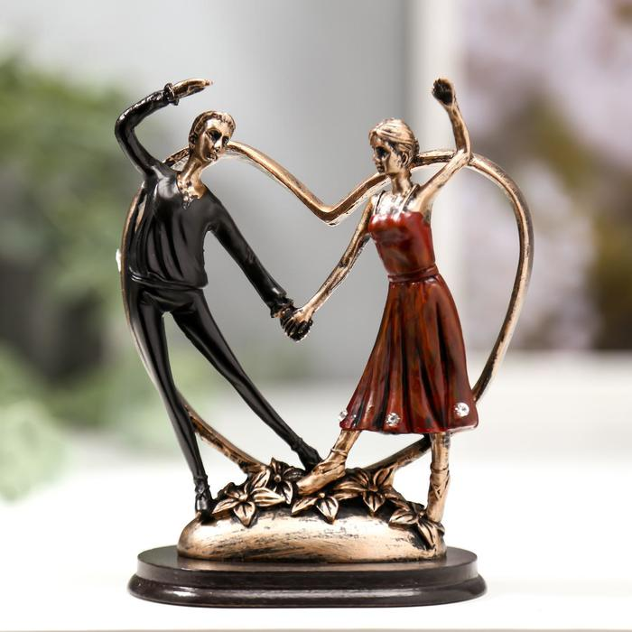 "Сувенир полистоун ""Идиллия. Танцующая пара""  12,6х10,3х6,3 см - фото 1734703"