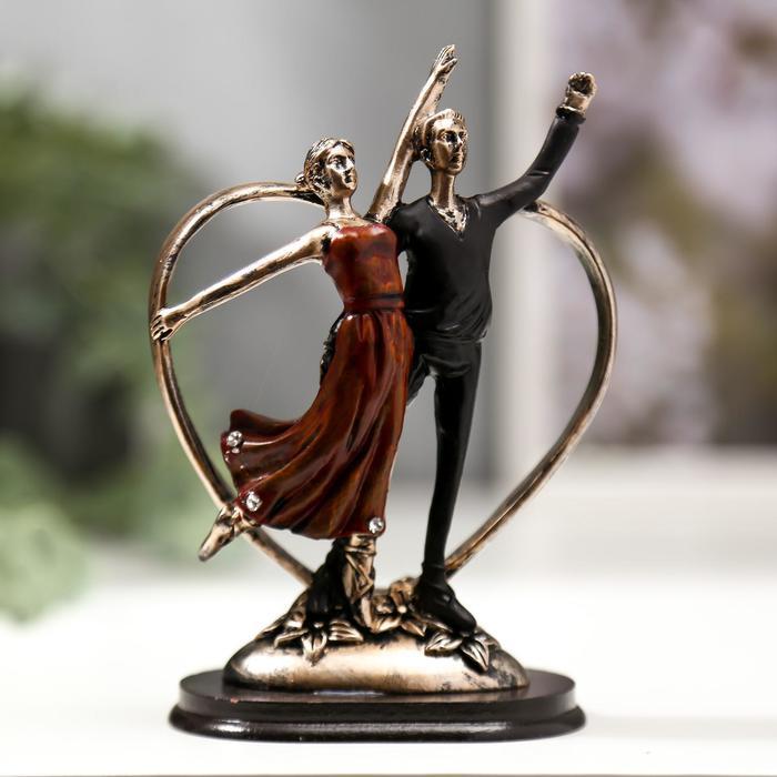 """Сувенир полистоун """"Дуэт. Танцующая пара"""" 15х9,8х6,4 см - фото 1734707"""
