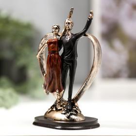 """Сувенир полистоун """"Дуэт. Танцующая пара"""" 15х9,8х6,4 см - фото 1734709"""