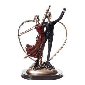"""Сувенир полистоун """"Дуэт. Танцующая пара"""" 15х9,8х6,4 см - фото 7767234"""