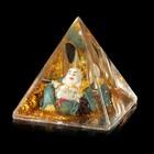 """Сувенир настольный подставка для ручек """"Хотей с жезлом"""" пирамида 7,8х7,8х7,8 см"""