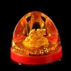"""Сувенир настольный подставка для ручек """"Золотая жаба со слитками"""" 6,5х7,8х8,3 см"""