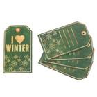 Шильдик декоративный на подарок I love winter, 5,8 × 10 см