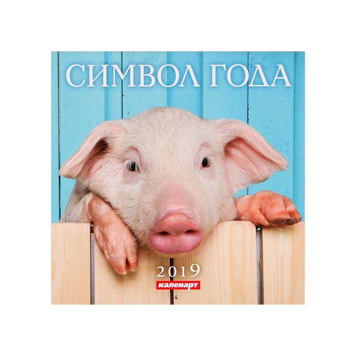 "Календарь на скрепке ""Символ года - 1"" 2019 год, 23х23см"