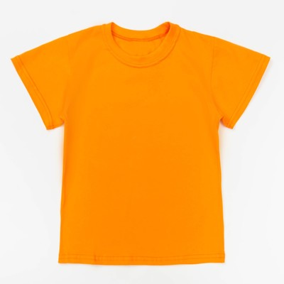 Футболка детская однотонная, рост 170, цвет оранжевый Ш-006