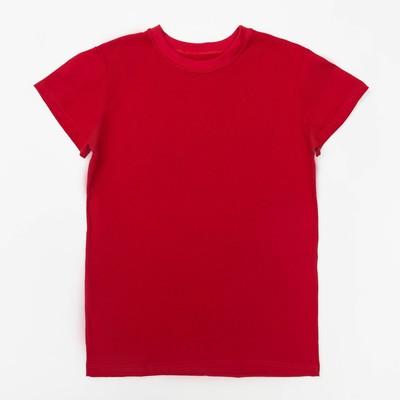 Футболка детская однотонная, рост 164, цвет красный Ш-006