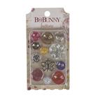 "Набор декоративных пуговиц BoBunny ""Ambrosia Buttons"" (12 шт) от 1 до 3 см"